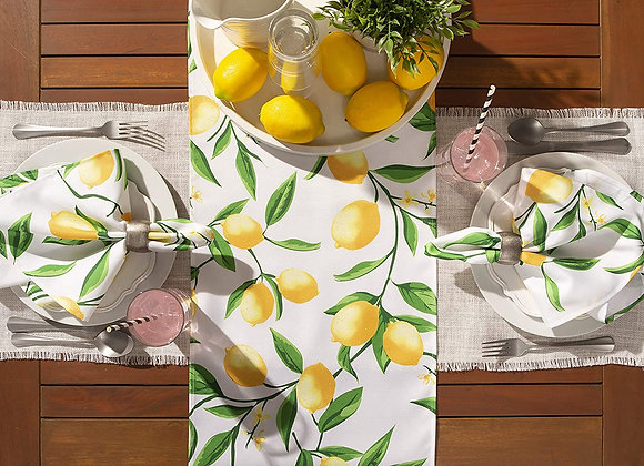 Lemon Patterned Linen