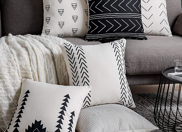 Geo Square Cushion Covers (set of 6)