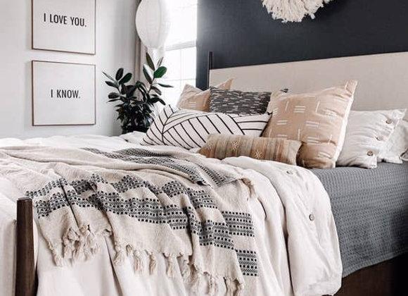 Fary Linen Cotton Throw Blanket