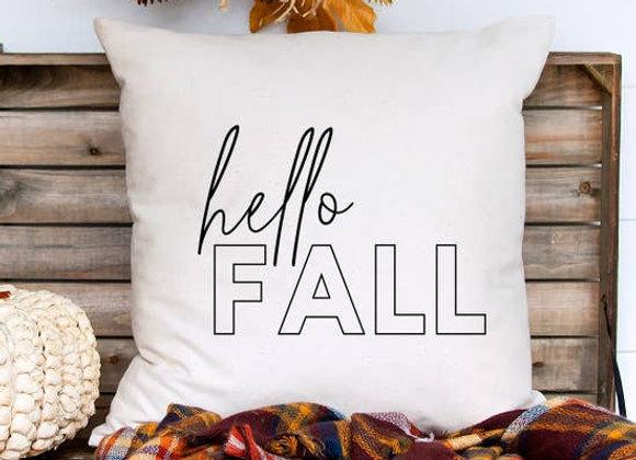 Hello Fall Pillow Cover
