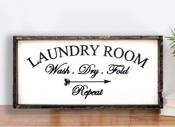 Laundry Room Wood Sign