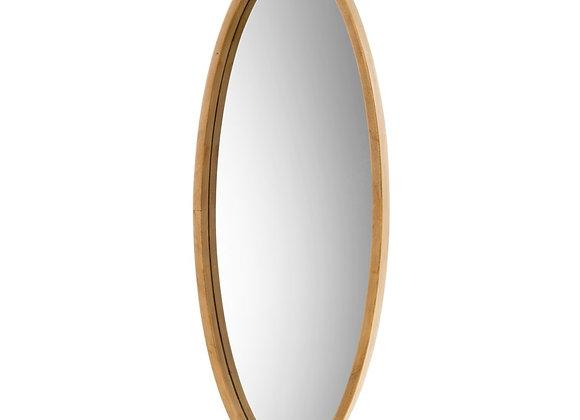 Oval Oak Mirror