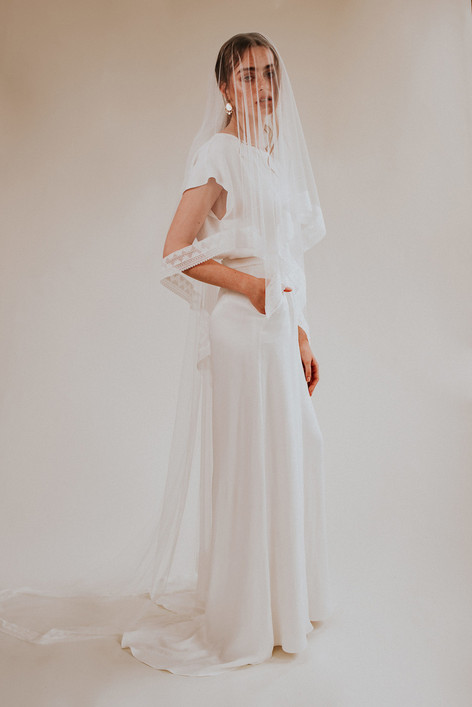 The Beloved Trousers + The Sappho Veil + The Maiden Top