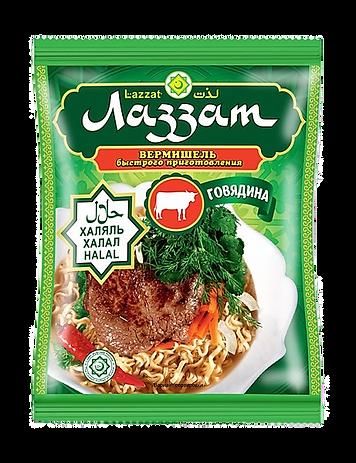 Вермишель со вкусом говядины Лаззат