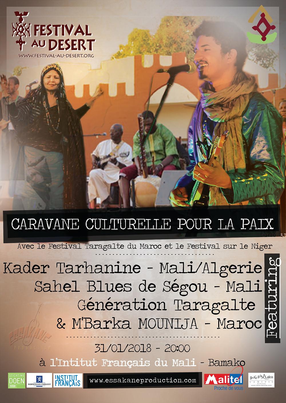 La caravane culturelle pour la paix 2018 à l'institut Français de Bamako
