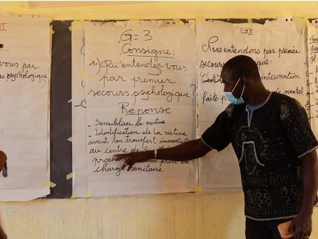 Lutte contre les VBGs en milieu scolaire, AMSS en partenariat avec le HCR forme les enseignants.