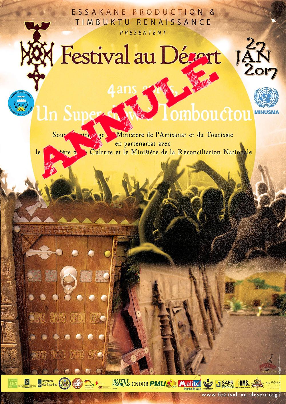 Festival au Désert 2017 annulé!