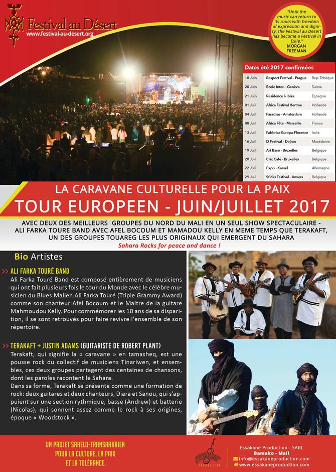 Caravane Culturelle Pour la Paix du Festival au Désert de Tombouctou - Europa Tour 2017