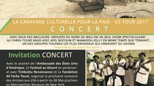 Concert De la Caravane Culturelle du Festival au Désert - USA TOUR2017