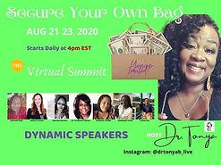 Dr. Tonya hosting her Event