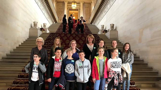 Visite du Sénat avec le Conseil Municipal pour Enfants de la commune de Mornant le mardi 24 octobre