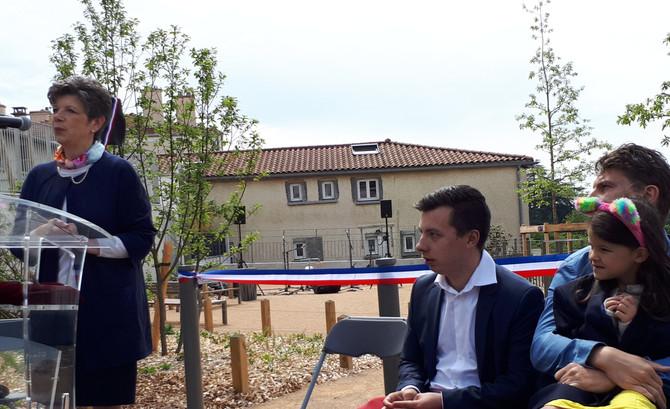 Inauguration du square Marin SAUVAJON à Chaponost samedi 18 mai 2019