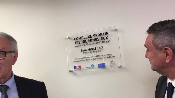 Inauguration du complexe sportif Pierre Minssieux à Brignais le samedi 15 décembre 2018