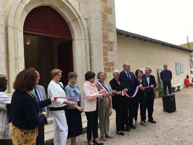 Inauguration de l'église Saint Laurent d'Arbuissonnas le samedi 12 octobre 2019
