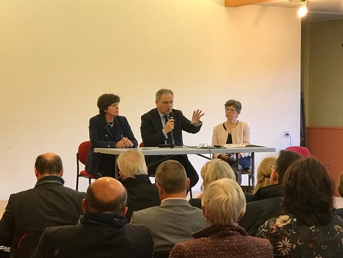 Réunion à Oullins avec les Sénateurs du Rhône le jeudi 5 avril 2018