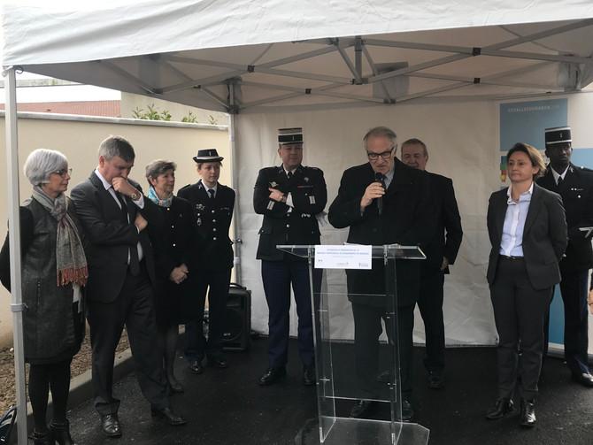 Extension et rénovation de la Brigade Territoriale de Gendarmerie de Brignais le 31 janvier 2020