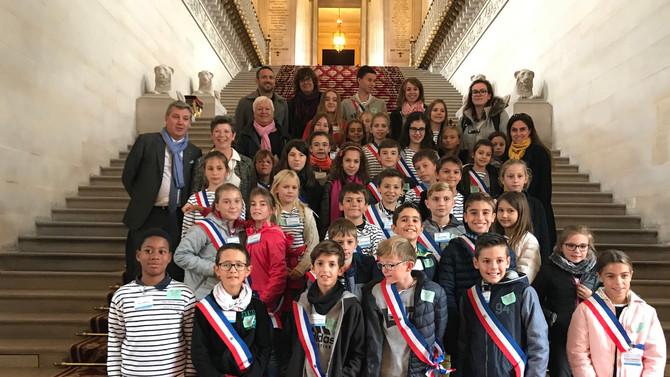 Visite du Conseil Municipal d'Enfants de la Commune de Genas le mercredi 24 octobre 2018
