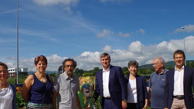 Inauguration des jardins partagés le samedi 2 juin 2018 à Messimy