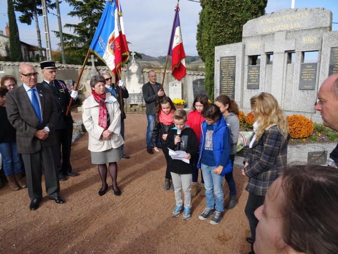 Cérémonie du 11 novembre 2015 à Messimy