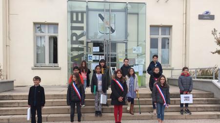 Installation du Conseil Municipal des enfants de Grézieu la Varenne le 17 octobre 2020
