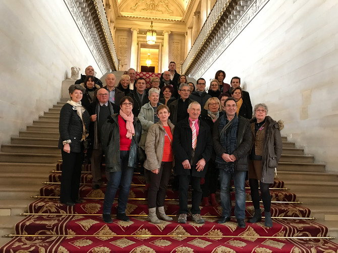 Visite du Sénat avec les élus des communes des Vallons du Lyonnais