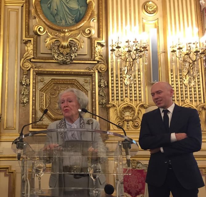 Lancement de l'Institut Français du Monde Associatif à l'hôtel de ville de Lyon par Madame S