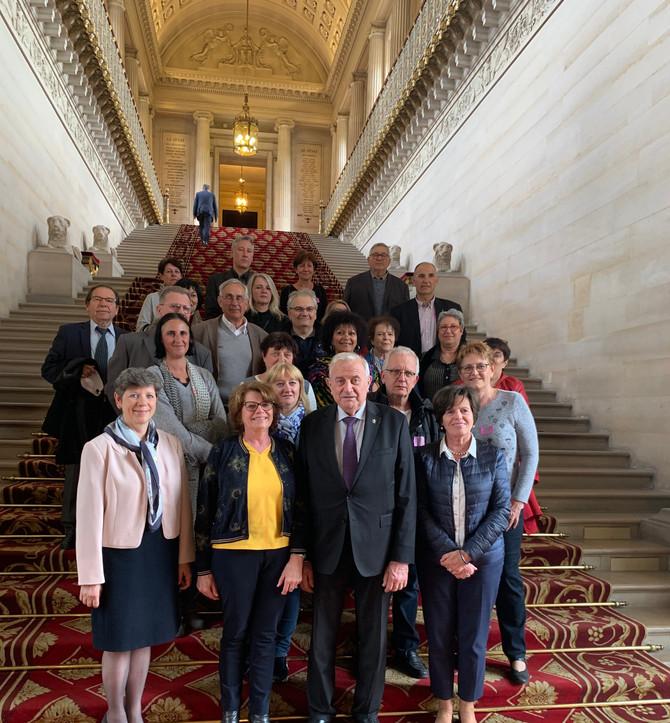 Visite du Sénat avec les élus de la commune de Saint Laurent de Mure mardi 2 avril 2019