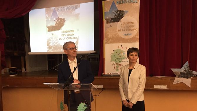 Cérémonie des voeux de la Communauté de Communes du Pays Mornantais à Riverie le 17 janvier 2020