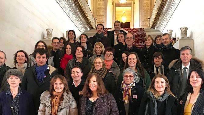 Réunion de travail et visite du Sénat avec le personnel du Centre de Gestion du Rhône et de la Métro