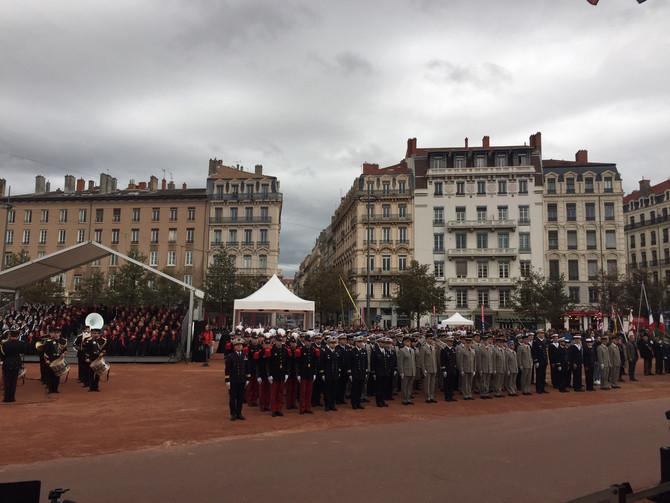 Cérémonie à Lyon de la commémoration de l'armistice du 11 novembre 2018