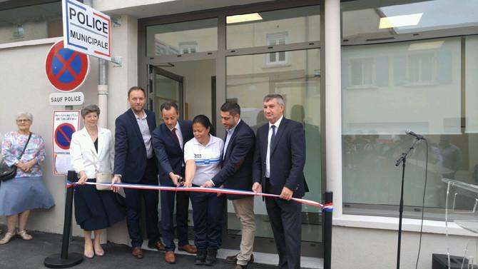 Inauguration du nouveau poste de police municipal à Chaponost dimanche 17 juin 2018