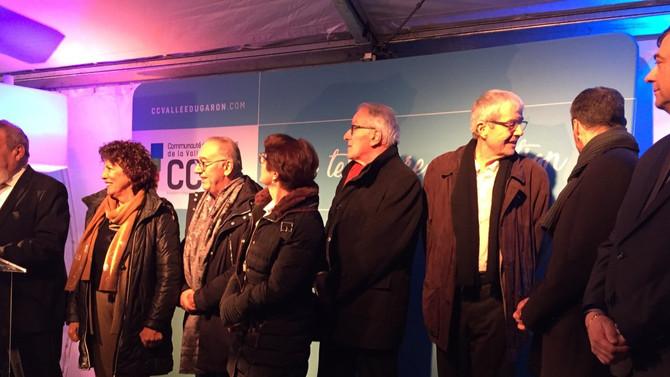 Cérémonie des voeux de la Communauté de Communes de la Vallée du Garon le 27 janvier 2020