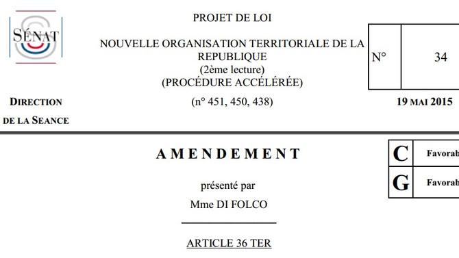 """Amendement de l'article 36 ter """"loi NOTRe"""""""
