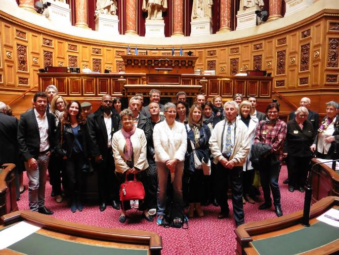 Visite du Sénat avec les Elus de la Commune de Saint André la Côte
