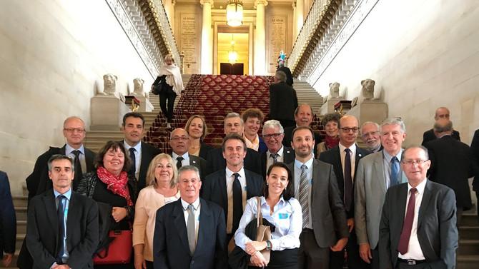 Visite du Sénat le 10 octobre 2017 par une délégation conduite par Monsieur Joël PIEGAY, Maire de Ma