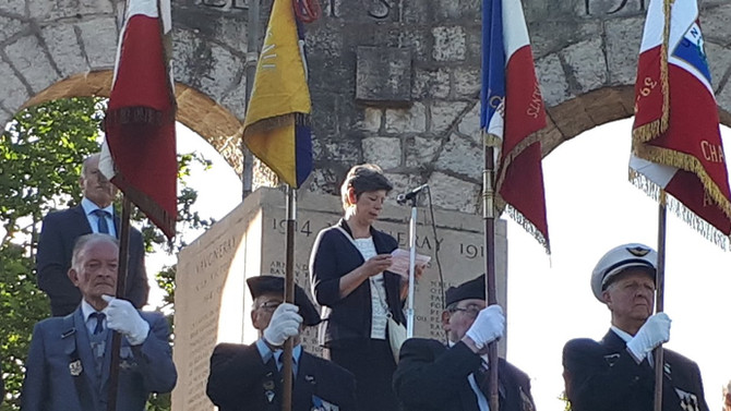 Discours pour l'appel du 18 juin lors de la cérémonie à Vaugneray lundi 18 juin 2018