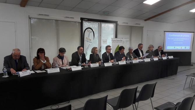 Conférence de presse à Francheville le 30 mars 2018 sur la future ligne METRO E vers Alaï