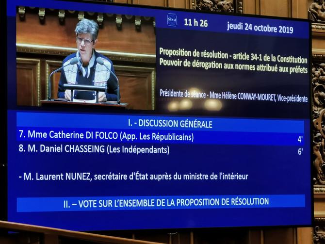 Proposition de résolution - article 34-1 de la Constitution Pouvoir de dérogation aux normes attribu