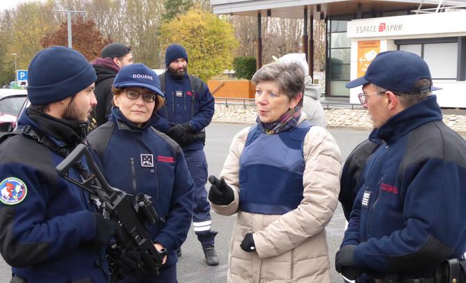 Visite des services douaniers de Lyon et déplacement sur le terrain lundi 19 novembre 2018