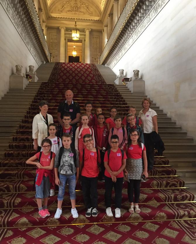 Visite du Sénat Conseil Municipal d'Enfants le jeudi 29 juin 2017