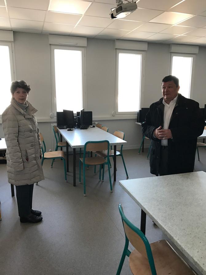Visite du collège de Saint Martin à Saint Martin en Haut le vendredi 20 janvier 2017