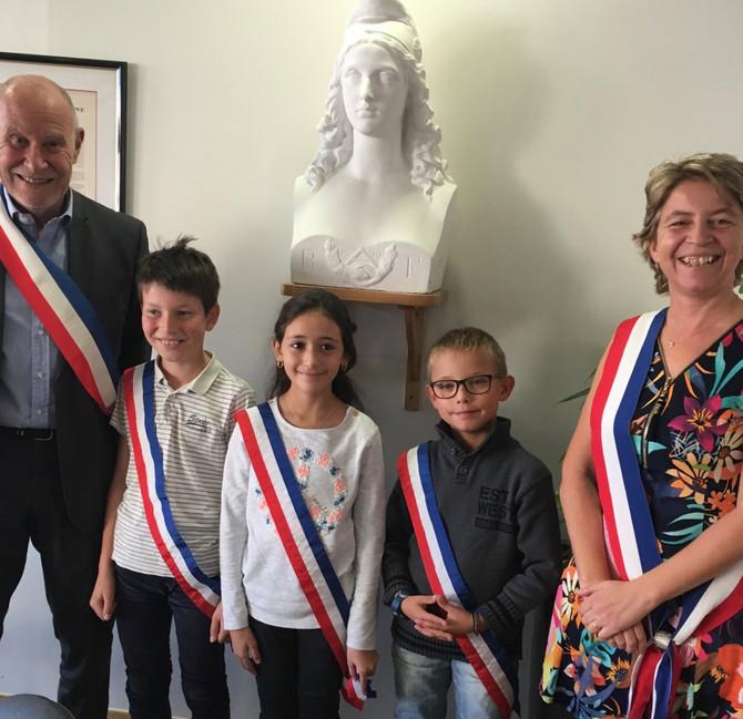 Installation du nouveau Conseil Municipal d'Enfants de Grézieu la Varenne le samedi 20 octobre 2
