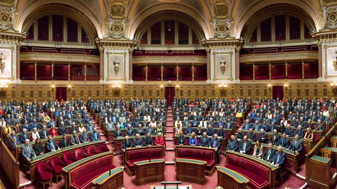 Photographie officielle du Sénat nouvellement reconstitué