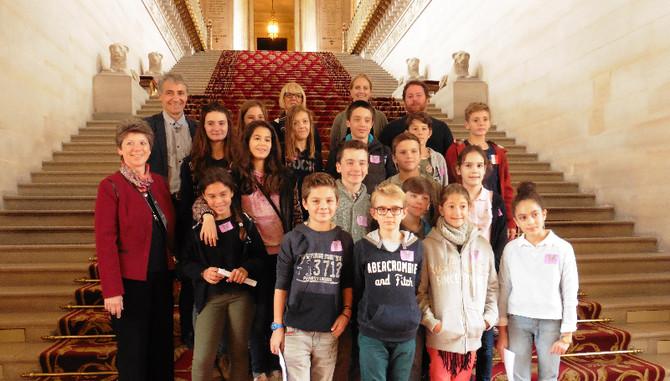 Visite du Sénat avec le Conseil Municipal des Jeunes de la ville d'Ecully