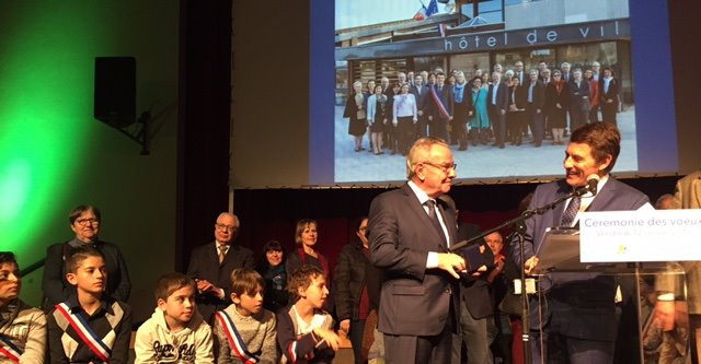 Cérémonie des vœux de la commune de Francheville et remise de la médaille de la ville à Michel TERRO