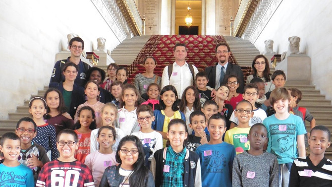 Visite de l'école Charles Péguy à Lyon