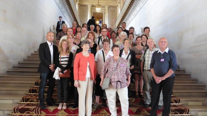 Visite du Sénat mercredi 22 juin 2016 avec les élus et le personnel municipal de Messimy