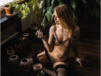 Up In Smoke - 420 Henna Boudoir Session