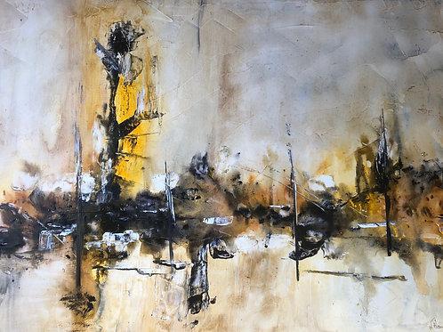 Jaune abstrait