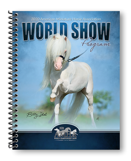2020 AMHA World Show Program Cover Flat